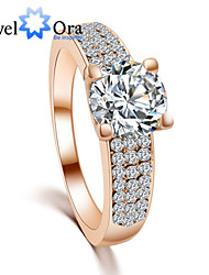 New Fashion Noble 18K Gold Plated Or Silver Plated  Full CZ Stone Band Ring For Woman&Lady