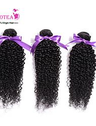 3Pcs Lot Mongolian Kinky Curly Virgin Hair Unprocessed 6A Human Hair Weave Mongolian Curly Hair Extensions Natural Color