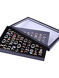 Classic Nice One Hundred Sets Wing Jewelry Cover Stand Multicolor Acrylic Jewelry Boxes(1 Pc)(Black,White)