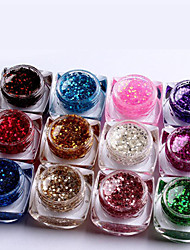 12pcs decoração arte cor misturada puro cor uv uv gel construtor gel polonês conjunto prego (8 ml)