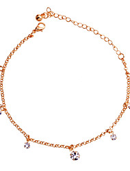 Bracelet de cheville ( Cristal / Plaqué argent / Plaqué or ) Soirée / Quotidien / Casual