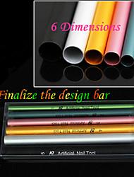 6pcs manicura / cristal especial una barra / bar de la conformación de palo / barra / otro plástico conformación 6 modelos 6 Pack