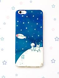 cony urso coelho e linha marrom cidade dos desenhos animados estrelas lua de blu-ray reflexo suave da tampa do caso TPU para iphone 6s /