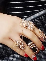 Кольца на вторую фалангу Имитация Алмазный Сплав Мода Серебряный Золотой Бижутерия Свадьба Для вечеринок Повседневные 1шт