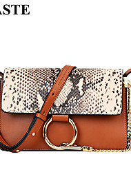 Paste® Fashion Vintage Classic Design Snake Print Real Leather Women Bag