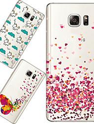 maycari®loving tellement retour TPU souple et transparent pour Samsung Galaxy Note 5 (couleurs assorties)