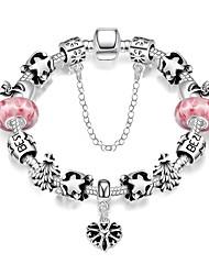 Bracelet Charmes pour Bracelets / Bracelets Vintage Alliage / Plaqué argent Soirée / Quotidien / Décontracté Bijoux CadeauNoir /