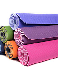 TPE Yoga Mats 183*61*0.8 Non Toxic 8.0 Azul / Verde / Laranja / Roxa #