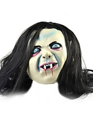 Blue Eyes Long Hair Ghost Rubber Mask for Cosplay / Halloween Costume Party