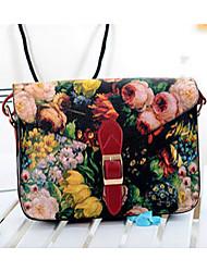 Для женщин Полиуретан Сумка на плечо Несколько цветов