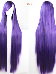 Fashion Color Cartoon Wig 100 CM Long Purple Hair Wigs