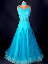 Ballroom Dance Dresses Women's Performance 1 Piece Blue / Fuchsia / Yellow