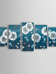 Oil Painting Modern Flower  Set of 4 Hand Painted Canvas with Stretched Framed