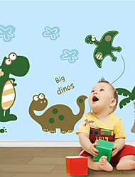 7008 Green Dinosaur Wall Stickers for Windows Dining Room Kid Room Girl Room Decorations Wall Decals Wall Art Cartoon