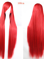 Fashion Color Cartoon Wig 100 CM Long Red Hair Wigs