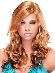 Women lady Long Curly Wigs Brown Color Synthetic Hair Wigs