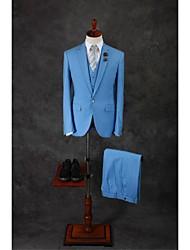Anzüge - Reguläre Passform ( Blau , Baumwollmischung , 3-teilig )