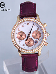 Set auger leather quartz watch Korean fashion exquisite birthday gift watches female manufacturers Cool Watches Unique Watches