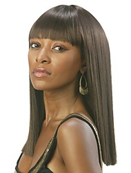 Latest Retro Trend Straight Human Virgin Remy Hand Tied-Top Capless Hair Wigs for Woman