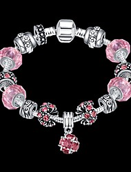 Lucky Doll Vintage  Silver Plated Gemstone & Crystal / Cubic Zirconia Link/Chain / Beaded / Charm Bracelet Christmas Gifts