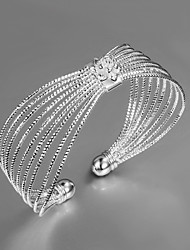 "Fashion Noble 925 Sterling Silver ""Flower""Bangles Party Daily Bangles For Woman&Lady"