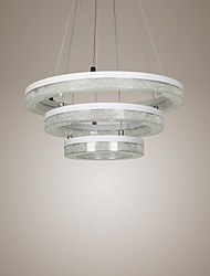 LED Crystal Pendant Light, Modern Lamp Three Rings