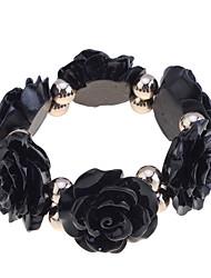 Korean Colorful Rose Shape Elastic Bracelet
