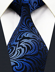 Men's Tie  Navy Blue Ripple 100% Silk  Casual  Dress