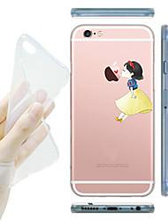 Für iPhone X iPhone 8 iPhone 5 Hülle Hüllen Cover Transparent Muster Rückseitenabdeckung Hülle Spaß mit dem Apple Logo Weich TPU für