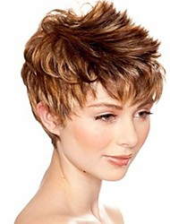 Attractive Blonde Brown Fashion Womens Short Wig