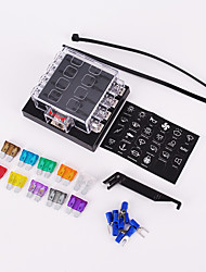 8 Way Circuit Car Fuse Box 32V DC Blade Fuse Holder Box Block Auto Car Boat Waterproof Dustproof with fuse puller
