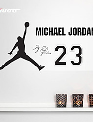 AWOO®  Hand holding basketball Michael Jordan Wall Stickers Home Decor  Vinyl Stickers For Kids Room Decoration