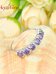 Lucky Shine Amazing 925 Silver Fire Full Amethyst Peridot Red Quuartz White Topaz Gems Rings For Friend Family Gift