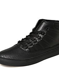 Men's High- Top Shoes Fashion Sneakers Black / Red / White