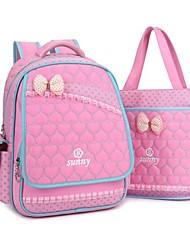 2PCS New Fashion Kids Nylon Fabric Child Girls Primary Teen Student School Bags