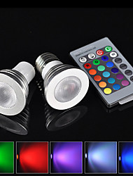 30° 16 Color E27 GU10 3W RGB LED Light Bulb Change Lamp + 24 Key Remote Control