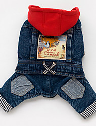 Dog Hoodie / Denim Jacket/Jeans Jacket Blue Dog Clothes Spring/Fall Jeans Cowboy