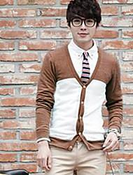 Men's Pure Cardigan , Knitwear Long Sleeve