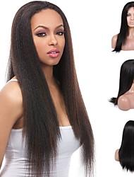 Premierwigs 8''-26'' Yaki Straight Brazilian Virgin Glueless Full Lace Human Hair Wigs Glueless Lace Front Wigs On Sale