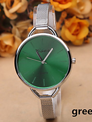 Fashion Silver Alloy Thin Belt Women's Watches Simple Quartz Watch With a Big Dial Cool Watches Unique Watches