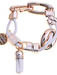 European Style Acrylic Clover Chiffon Weave Tassel Bracelet