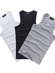 Cycling Vest Men's Bike Vest/Gilet Tank Sweat-wicking Solid Exercise & Fitness White Gray