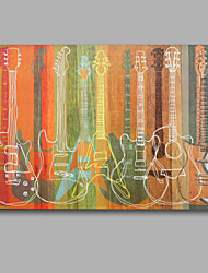 Colorful Guitar Handmade Oil Painting Stretched Painting
