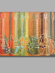 красочные гитары ручной работы маслом картина растягивается