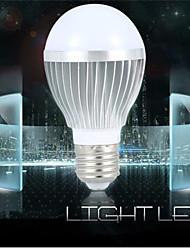 1pcs  E26/E27 7W  Cool White Aluminum shell Sound-Activated / Decorative LED Smart Bulbs  Corridor induction lamp