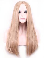 les femmes perruque synthétique de chaleur droite cheveux perruques synthétiques résistantes