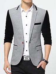 Men's Fashion High Quality Gold Velvet Stitching Slim Suit