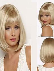 dama de la moda de color rubio medias pelucas sintéticas pelo largo caliente de la venta.