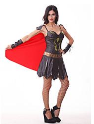 Costumes de Cosplay Costume de Soirée Soldat/Guerrier Fête / Célébration Déguisement d'Halloween Mosaïque Robe Halloween Carnaval Féminin