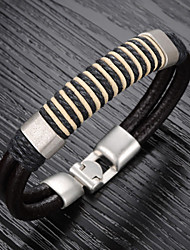 Vintage / Casual Alloy / Leather Bracelet